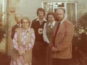 old family photo 1978 of the Martins in slough bucks, now in reading berkshire